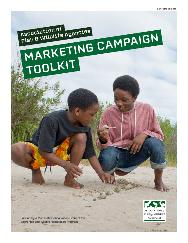 "AFWA campaign tool kit cover. Headline text reads, ""Marketing Campaign Toolkit."""