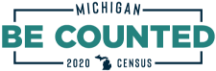 "Michigan Census logo, ""Be Counted"""